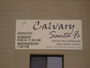 Calvary Santa Fe sign